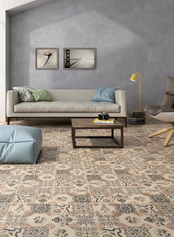 Gres de aragon serie retro pavimento esmaltado decorado con dise o cl sico consulte su oferta - Gres esmaltado ...
